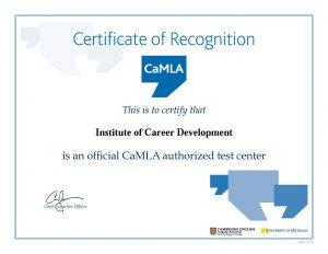 CamLA Certificate