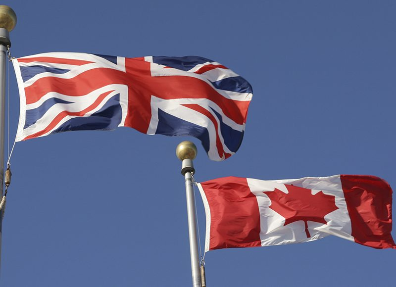 10555252 - canadian and british flags